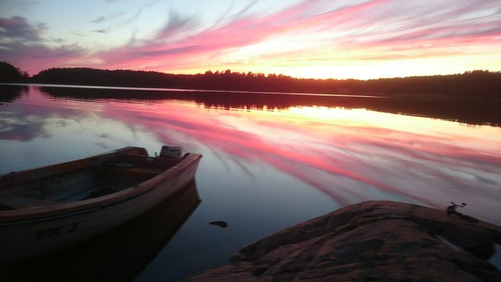 Sonnenuntergang in Schweden Loftahammar