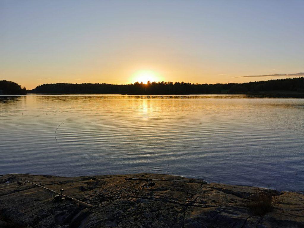 Zanderangeln bei Sonnenaufgang